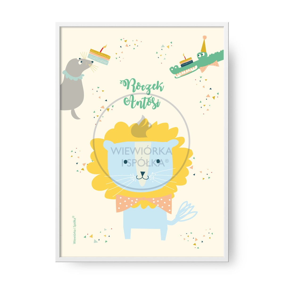 Plakat Animals Personalizowany