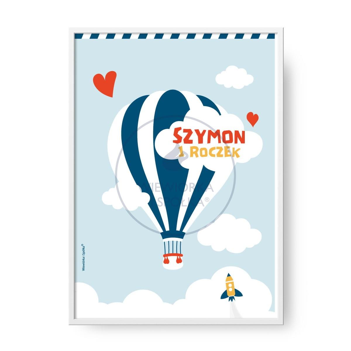 Plakat Balon Personalizowany