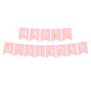 Girlanda Happy Birthday Pink / 250 cm