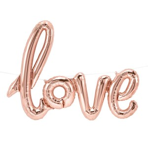 Balon Love rose gold / 76 cm