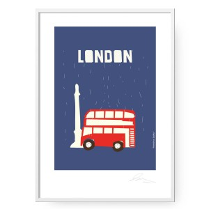 Plakat London, format B2 (50 cm x 70 cm)