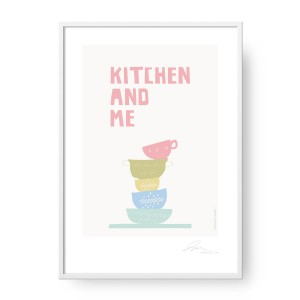 Plakat Kitchen and Me, format A2 (42 cm x 60 cm)