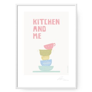 Plakat Kitchen and Me, format B2 (50 cm x 70 cm)