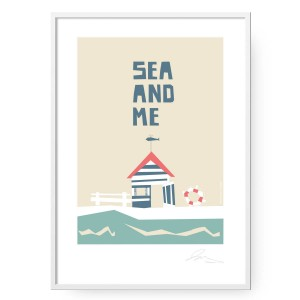 Plakat Sea and Me Domek format B2 (50 cm x 70 cm)