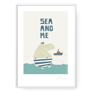 Plakat Sea and Me Marynarz format B2 (50 cm x 70 cm)