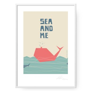 Plakat Sea and Me Wieloryb format B2 (50 cm x 70 cm)