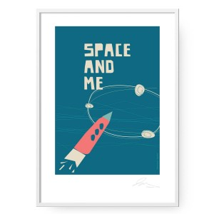 Plakat Space and Me format B2 (50 cm x 70 cm)
