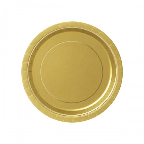 talerze-talerzyki-zlote-Wiewiorka-i-Spolka-gold-golden-solid-color-party-plate-plates-Squirrel-Company
