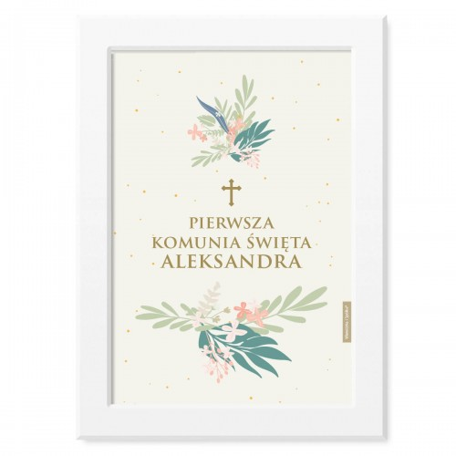 obrazek-plakat-do-pokoju-prezent-na-pierwsza-komunie-mietowe-kwiatki-Wiewiorka-i-Spolka-minty-flowers-personalised-first-holy-communion-poster-Squirrel-Company